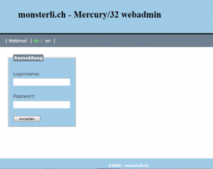 Mercury32 Webadmin Login