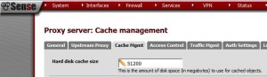 pfSense - Squid Proxy Cache Size