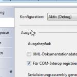 """3. """"Für COM-Interop registrieren"""" Komponente lokal installieren"""